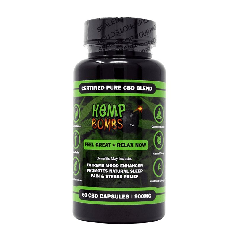 Hemp Bombs 60-count CBD capsules