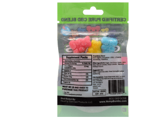 Hemp bombs cbd gummies - back of pack