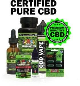 certified pure cbd - hemp bombs various products