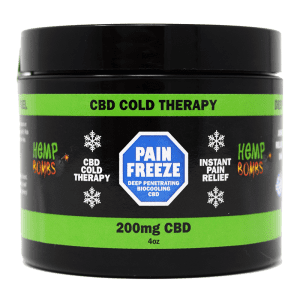 cbd pain freeze 4oz - front of container