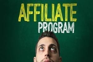 man's head looking up, affiliate program
