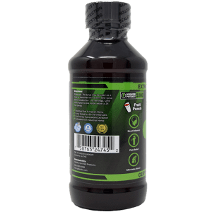 1000mg cbd syrup - side of label