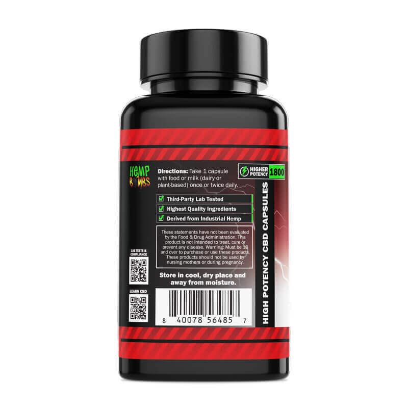 High Potency CBD Capsules 60-Count left