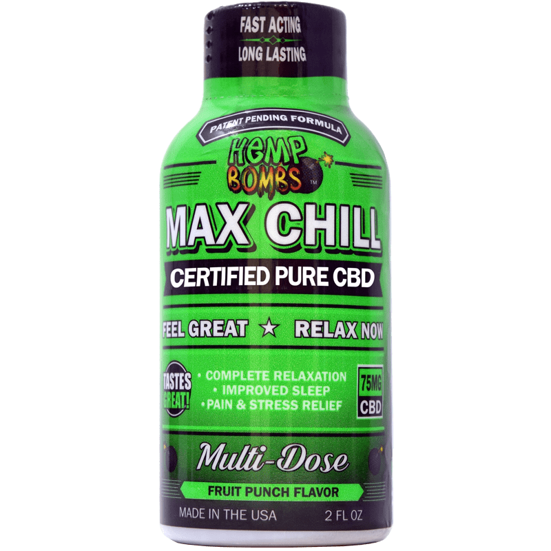 75mg cbd max chill shot single
