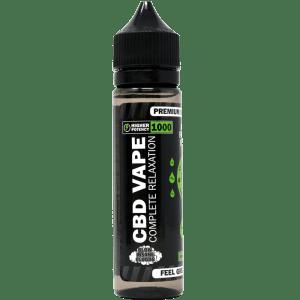 1000mg cbd e-liquid - front label