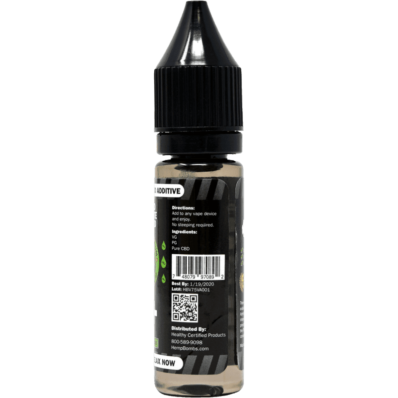 Hemp Bombs 75mg CBD E-Liquid Additive - Back View