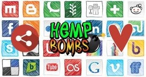hemp bombs influencer image and social icons