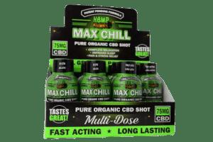 hemp bombs cbd max chill shot sleeve