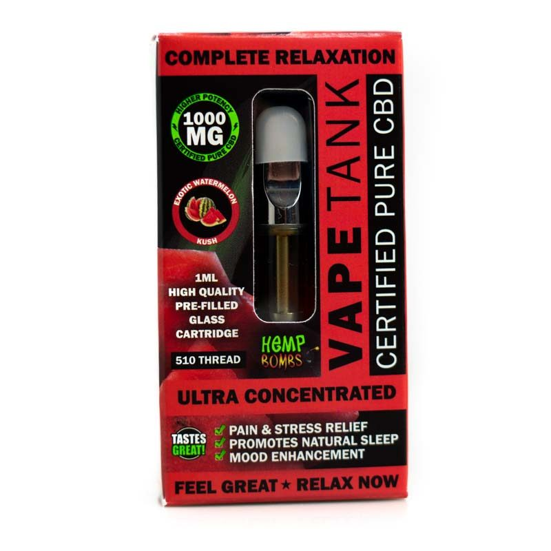 CBD Vape Tank Watermelon 1000mg