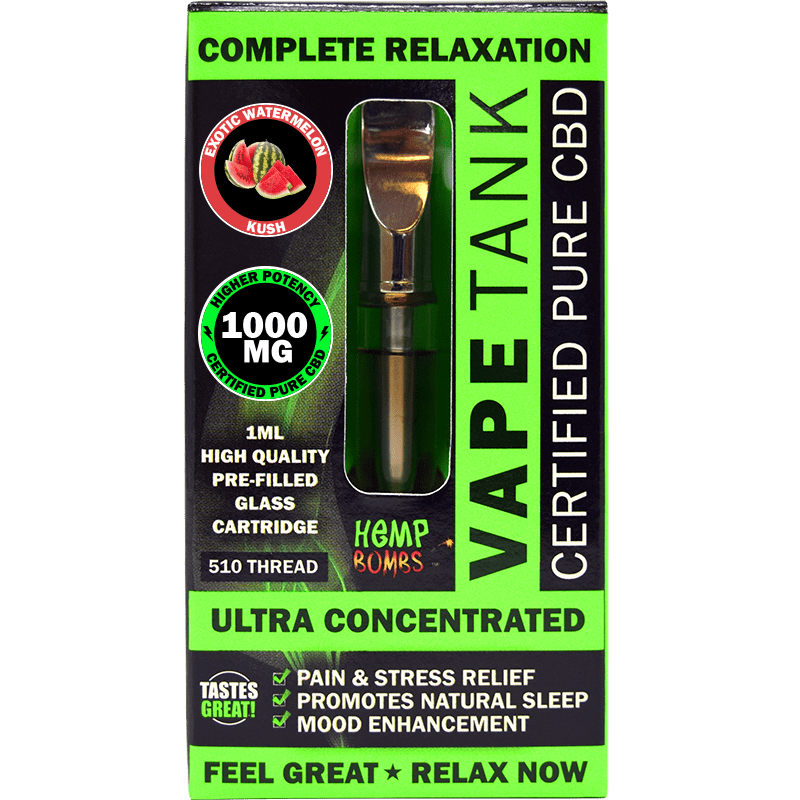 CBD Vape Tank 1000MG exotic watermelon