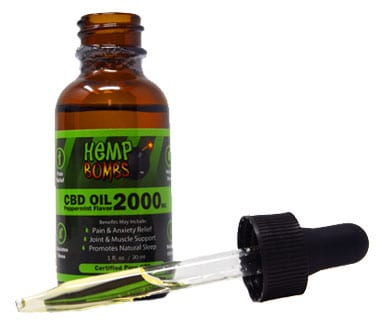 CBD Oil bottle with dropper