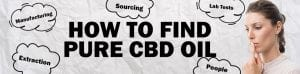 woman considering how to find pure cbd oil