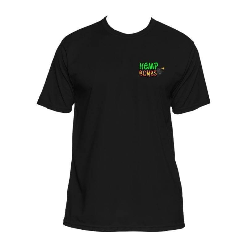 hemp bombs black circle logo shirt