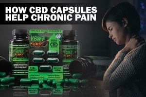 hemp bombs capsules woman with chronic pain