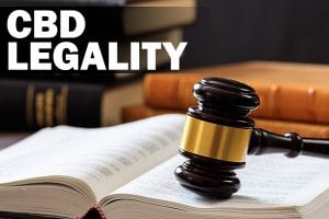 gavel and law book cbd legality