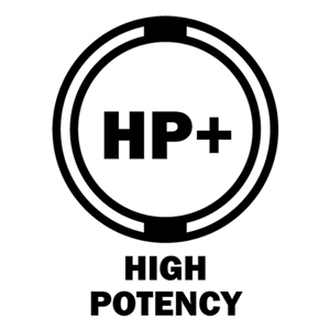 HP + high potency graphic