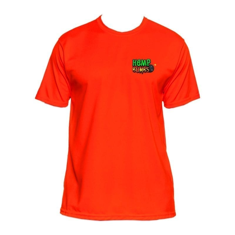 Hemp Bombs orange dri-fit shirt