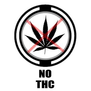 No THC icon - pot leaf X'd out grpahic
