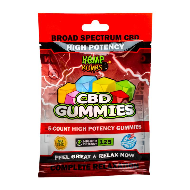 5-Count High Potency CBD Gummies