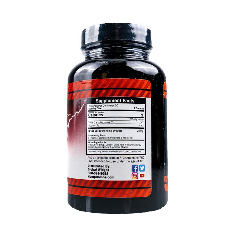 60-count High Potency CBD Gummies | 1500mg CBD
