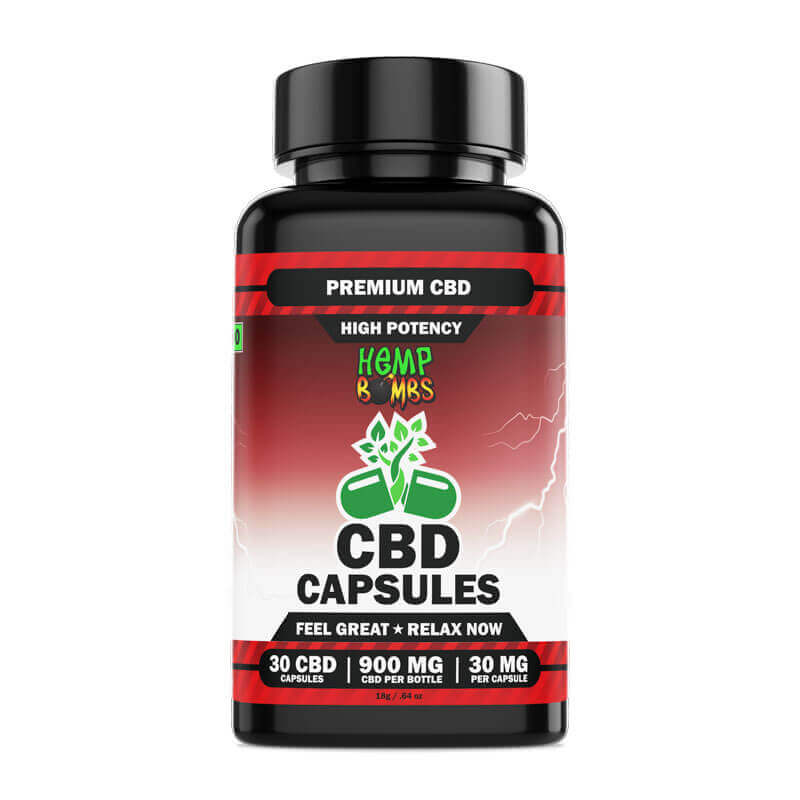 High Potency CBD Capsules 30-Count front