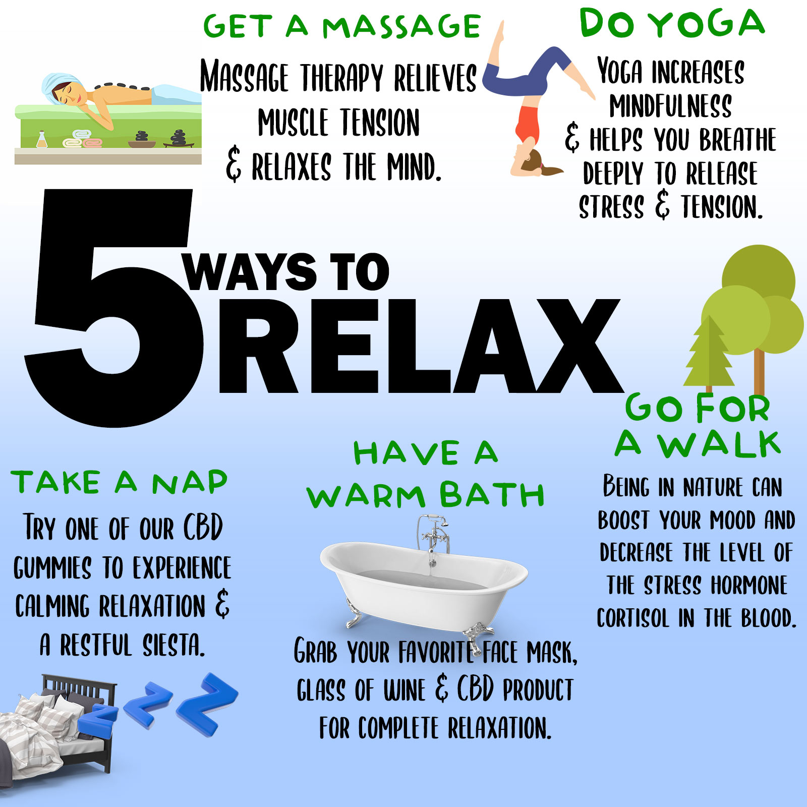 Ways to Relax with CBD