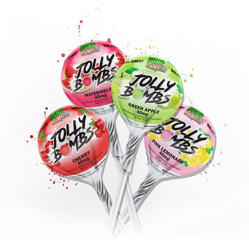 CBD Jolly Bombs Lollipops Edibles 40mg