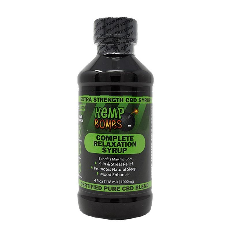 CBD Syrup 1000mg fruit punch flavored