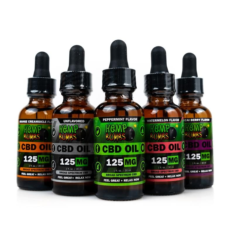 Hemp Bombs CBD Oils 125mg all flavors
