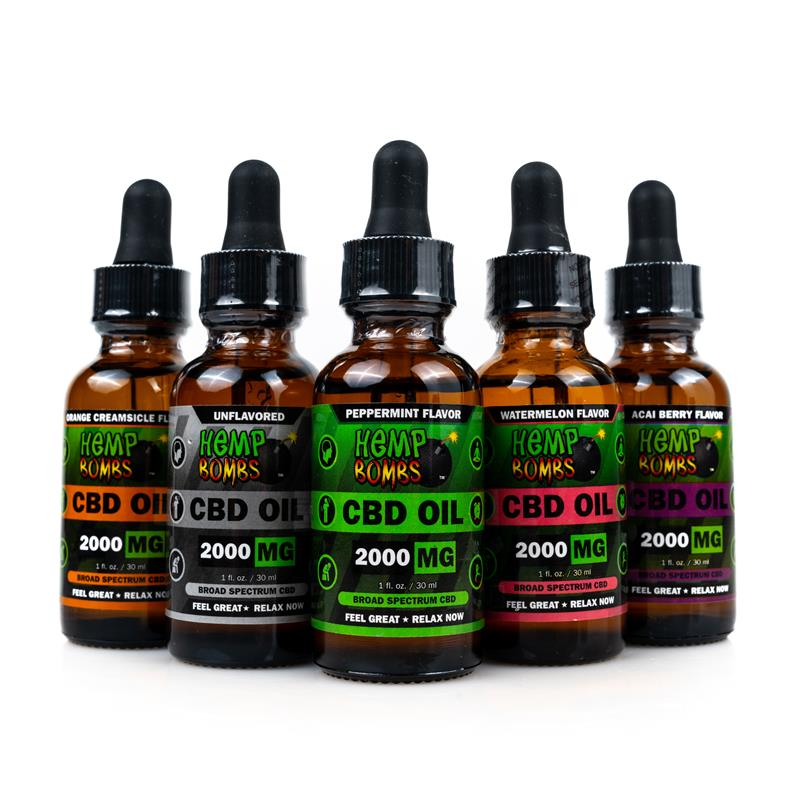 Hemp Bombs CBD Oils 2000mg all flavors