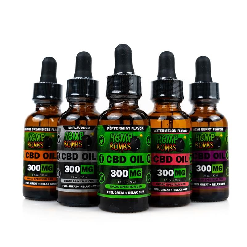 Hemp Bombs CBD Oils 300mg all flavors