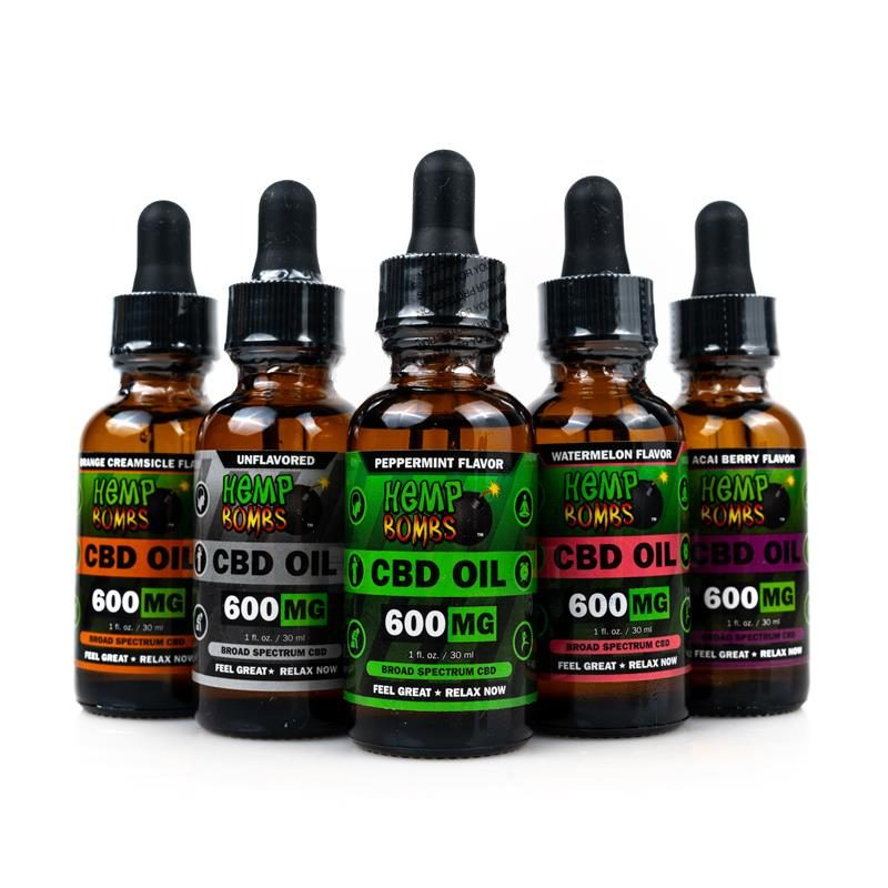 Hemp Bombs CBD Oils 600mg all flavors