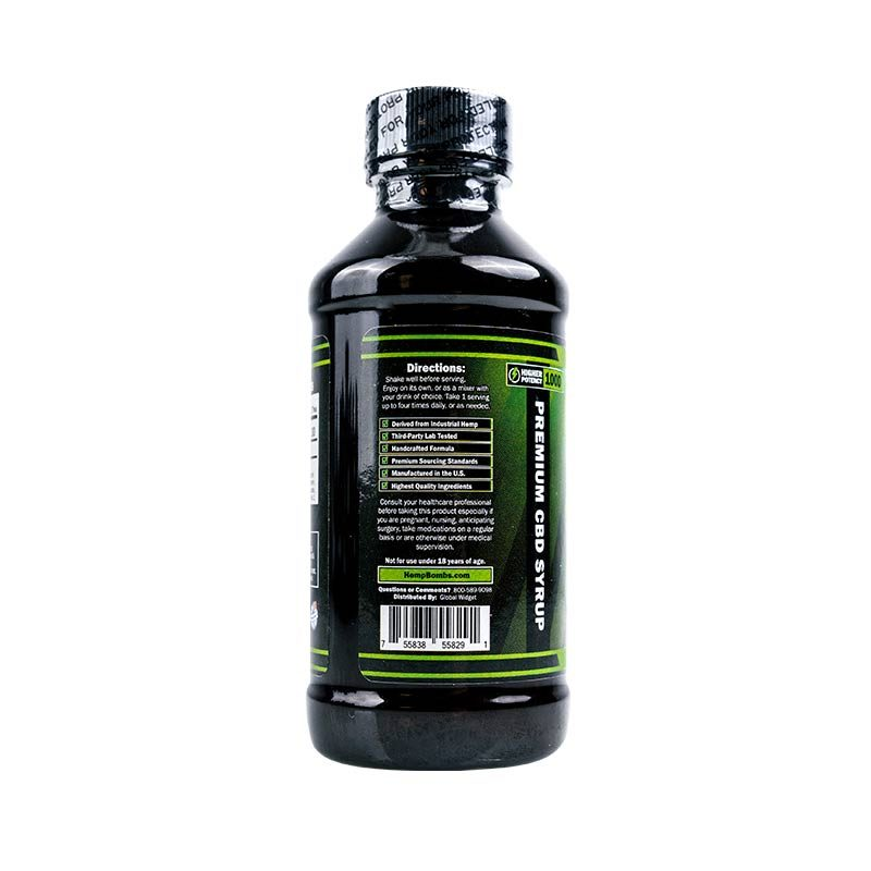 CBD Syrup Fruit Punch Flavored 1000mg Directions