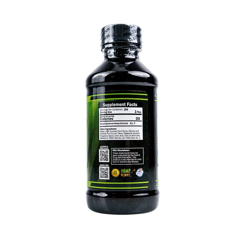 CBD Syrup 1000mg Supplement Facts