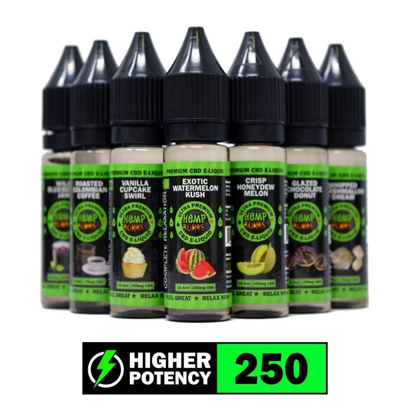 Flavored CBD Vape Juice 250mg