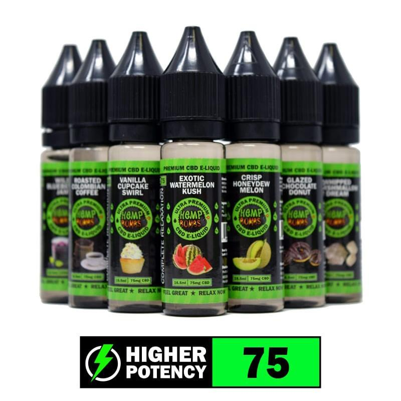 CBD Vape Liquid 75mg Flavored