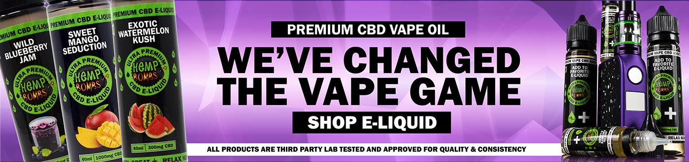 CBD Vape Products Homepage Banner