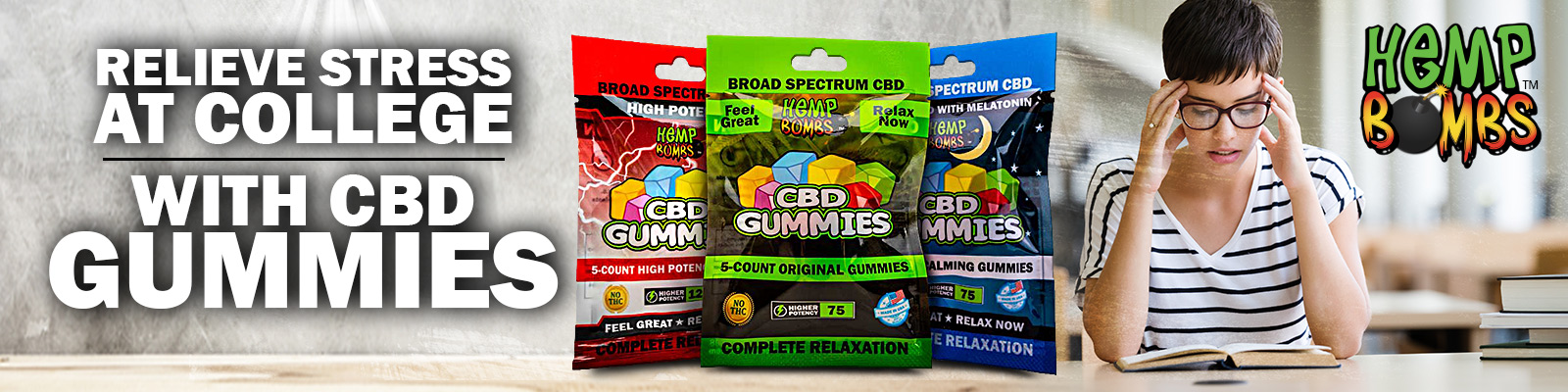 CBD-infused stress gummies for college students