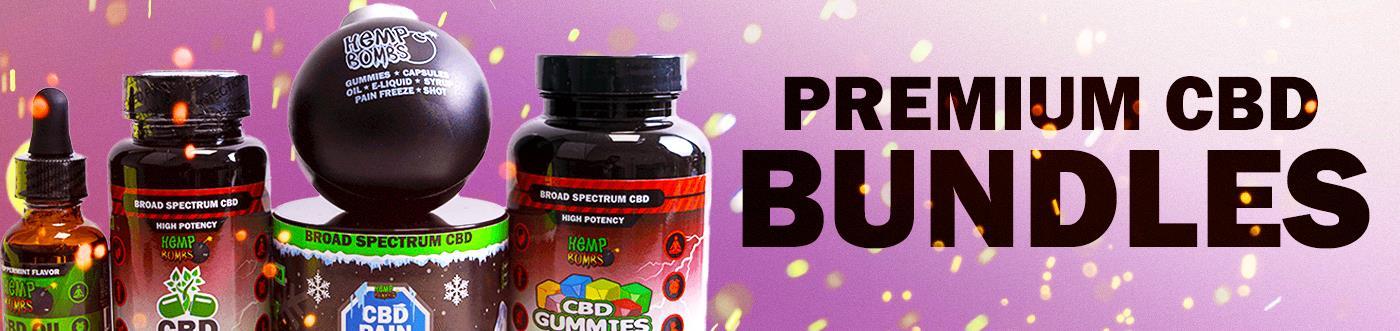 CBD Starter Kit and other Premium CBD Bundles from Hemp Bombs