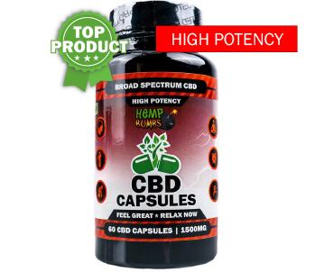 CBD Capsules High Potency 60CT Bottle