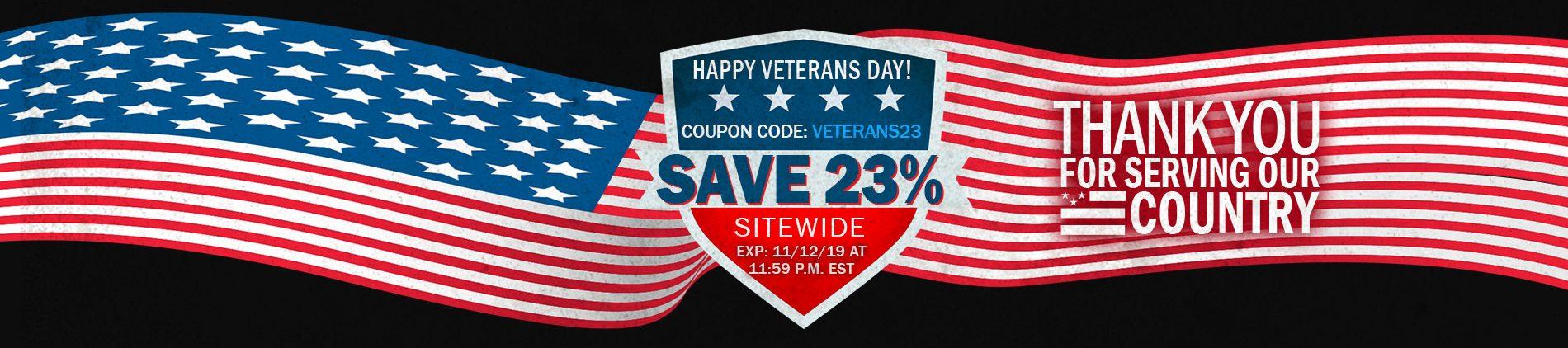 CBD For Veterans Day Sale