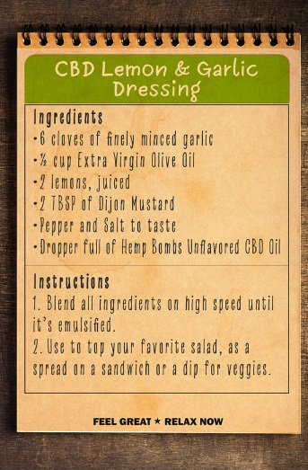 CBD Lemon & Garlic Dressing Recipe