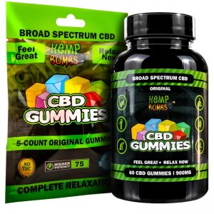 Original CBD Gummies Bag and Bottle