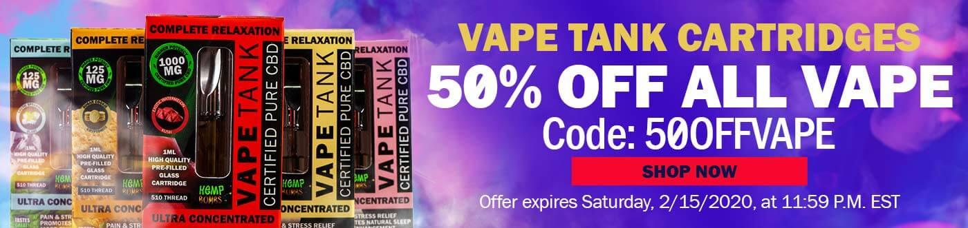 CBD Vape Tanks 50% Off Code: 50OFFVAPE