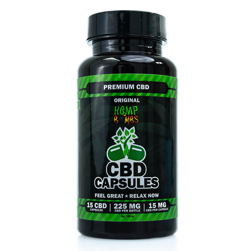 Hemp Bombs CBD Capsules 15-Count