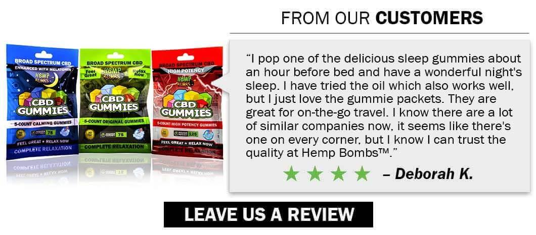 CBD Reviews of Hemp Bombs Premium CBD Products