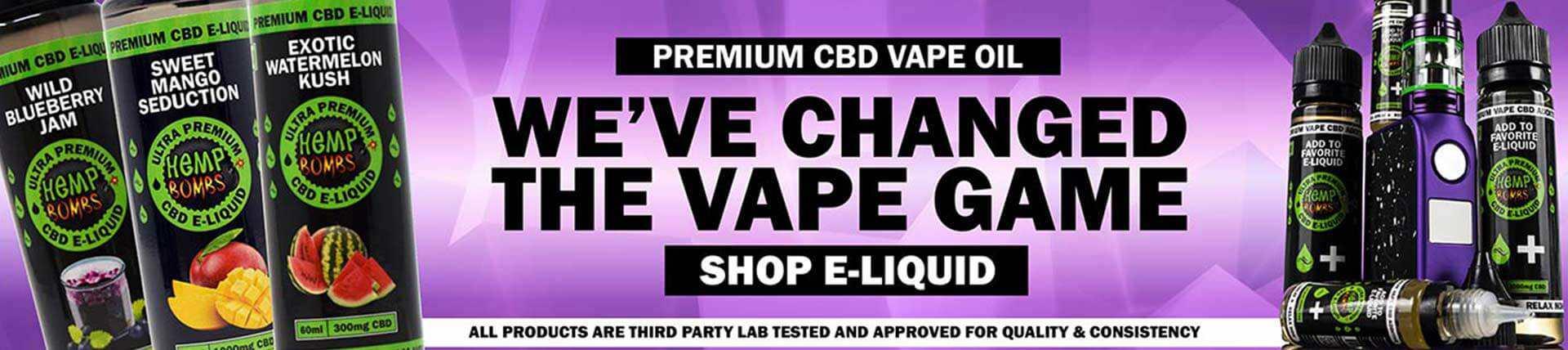 Premium CBD E-Liquid from Hemp Bombs