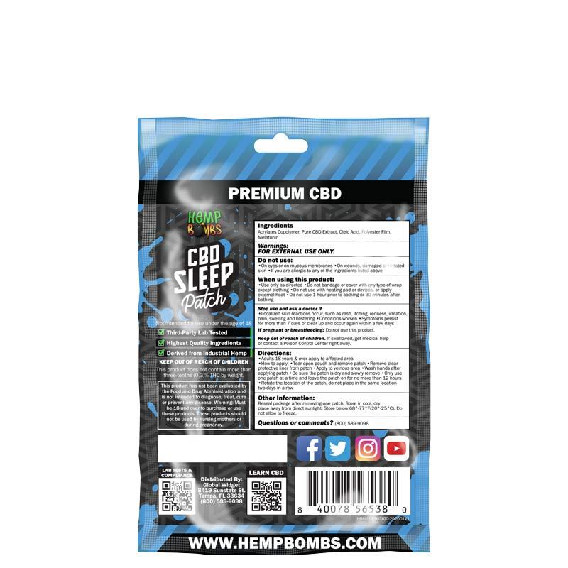 CBD Sleep Patch ingredients