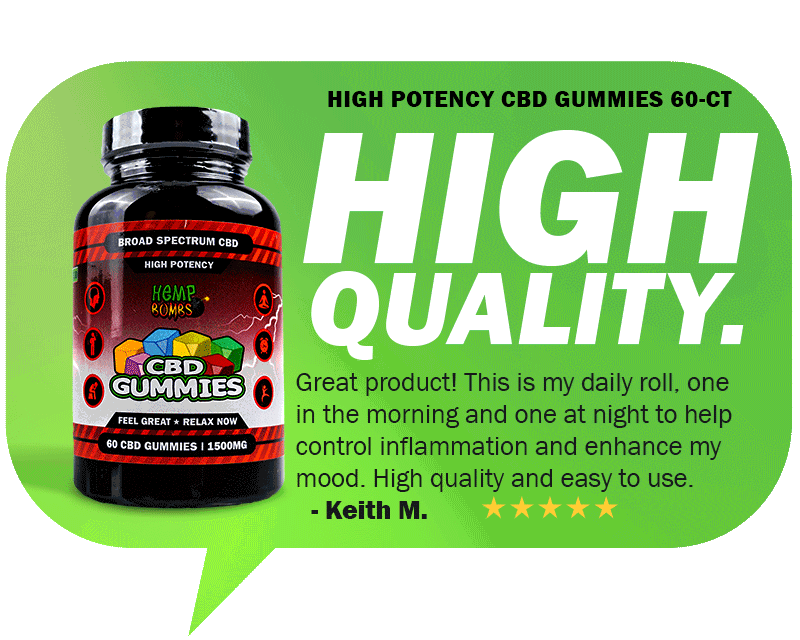 CBD Reviews - High Potency CBD Gummies 60-Count