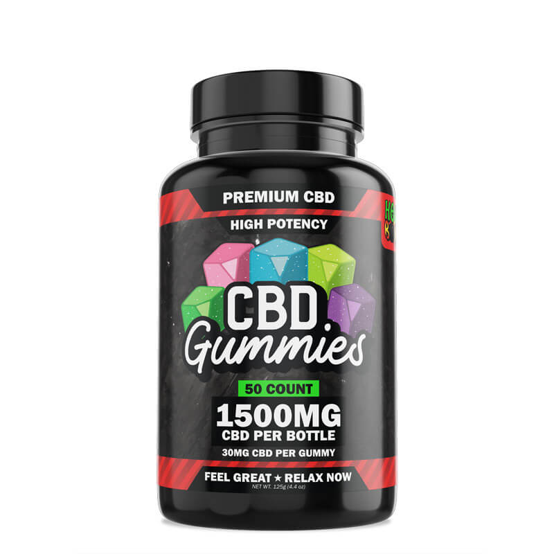 50-Count High Potency CBD Gummies